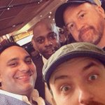 Me, Dave Chappelle, Russell Peters & Louis CK in the most epic selfie. #LasVegas #Chappelle #LouisCK @therealrussellp http://t.co/HOgZuB8TDS