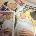 Some front pages with the Princess of Cambridge, wrapped in a shawl from GH Hurt & Son in Chilwell! #lovenotts http://t.co/qbDkMVktbb