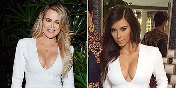 Nope, the Kardashians never met a plunging neckline or front slit they didn't like
