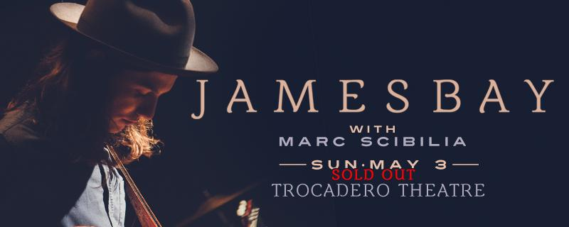 Tonight:: @JamesBayMusic returns to @thetrocadero with @marcscibilia for another sold out show! http://t.co/2aJM58HukQ