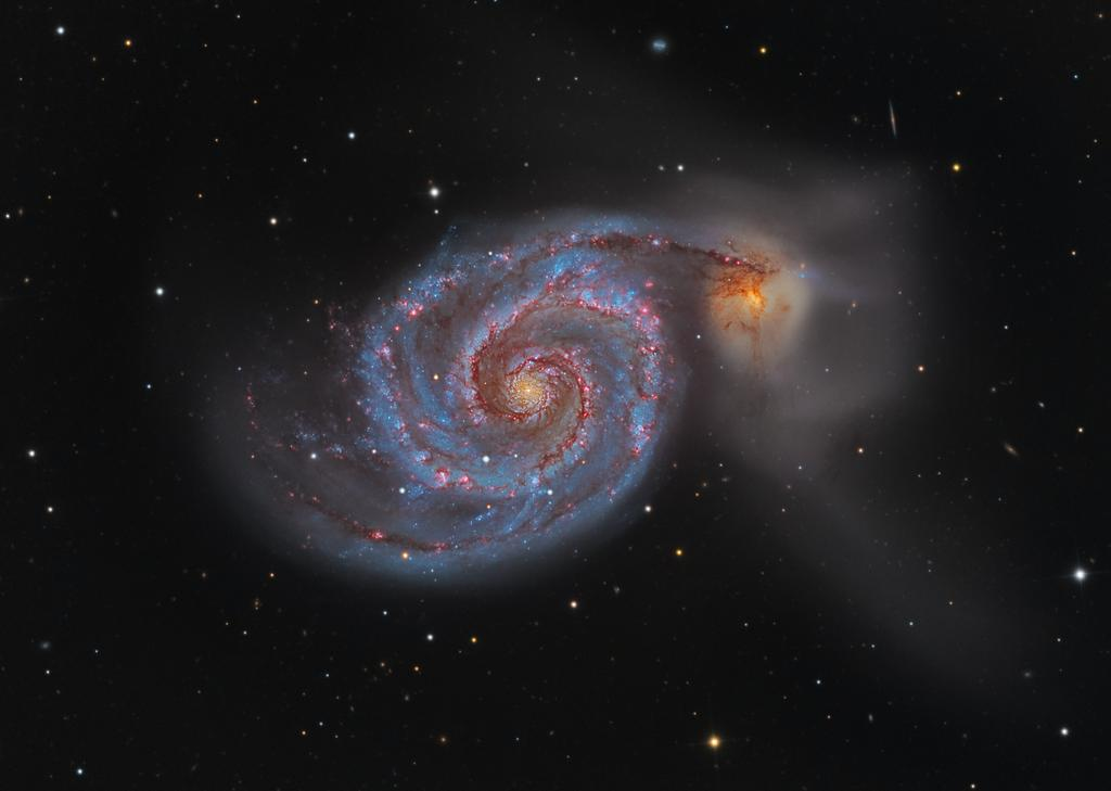 Love this image...fantastic! RT @apod: M51: The Whirlpool Galaxy: http://t.co/cyx7ZIL2M0 http://t.co/TtvqEHrbNs