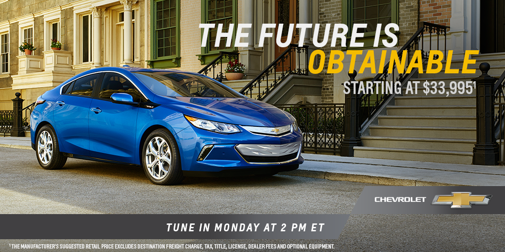 Starting at $33,995, the #NextGenVolt will deliver more for less. See how: http://t.co/Lw57r9WZ3k http://t.co/MFgBIRUsYU