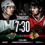 GAME 2! TONIGHT! The #Blackhawks look to take a 2-0 series lead before leaving UC ice. Buzz: http://t.co/3G2t7qJlXB http://t.co/AIi7wvn7lp