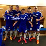 Feliz y orgulloso de este equipo! Happy and proud of this team ????! @ChelseaFC Were the PREMIER LEAGUE CHAMPIONS!!!???????? http://t.co/2kZpqL5nxX