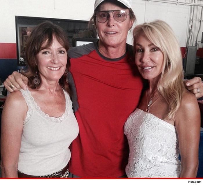 Bruce Jenner's ex-wives are by his side... but where's Kris Jenner?