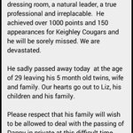 The club are devastated to announce the tragic loss of Danny Jones. You will forever be in our hearts. #RIPJonesy http://t.co/LLPNDL69uu