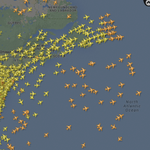 RT → StringAndRudder: RT CRWjay: It is truly amazing to me how many airplanes fly across the Atlantic Ocean every … http://t.co/7lGtBPESYr