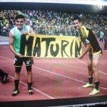 Los monaguenses Cesar Gonzalez y Carlos Cermeño enviaron un saludo a su tierra en medio del festejo http://t.co/1wP06j7zjg