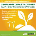 """📢 Realizar los estudios de factibilidad para construir el Parque Agroindustrial """"Chenes"""". #ConTodoParaTodos http://t.co/18kRY8m4Nk"""