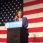 .@NHDems welcome Leader Pelosi with a standing ovation at tonights McIntyre-Shaheen 100 Club Dinner! #nhpolitics http://t.co/t0vZgA2S9e