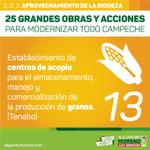 📢 Establecimiento de centros de acopio para el almacenamiento, manejo y comercialización de la producción de granos. http://t.co/PWmBixi7Bw