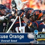 Orange receives No. 2 seed in @NCAA_Lax Tournament for 2nd year in a row. Team is 15-5 w/3 NCAA titles as 2-seed. http://t.co/jqtZmmoztF
