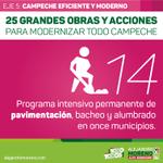 📢 Programa intensivo permanente de pavimentación, bacheo y alumbrado en once municipios. #ConTodoParaTodos http://t.co/40LcjaWSYc