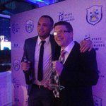 """Joel: """"I fell over, my legs went up in the air and now Ive won Goal of the Season - again!"""" #htafcannualawards (DTS) http://t.co/2uwIZDSHfM"""