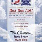 "Check out ""Phoenix Somerset Music Menu"" on Eventbrite! Date: Sat, 9 May @miles_riverside https://t.co/jmEK8q65BW http://t.co/hYkcZDjjnH"