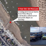 Flint, Rhyl & Llandudno Coastguard teams called out to rescue 9 year old girl stuck in mud: http://t.co/j9uRPmaUTx http://t.co/Rfpzy98JNc