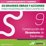 📢 25 Grandes Obras y Acciones para Campeche: Construcción del libramiento de Escárcega #ConTodoParaTodos http://t.co/I81GMwIOoF