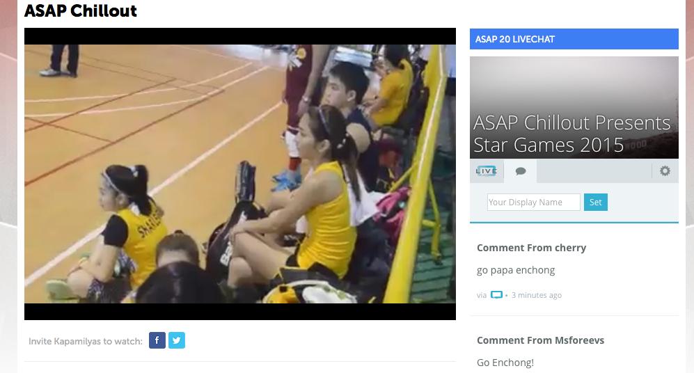ASAP ABS-CBN (@ASAPOFFICIAL): UP NOW: Volleyball game ni Teen Queen @bernardokath mapapanood na VISIT http://t.co/ihCI1HRx8u NOW!! #teamyellow http://t.co/nbjcCf5OER