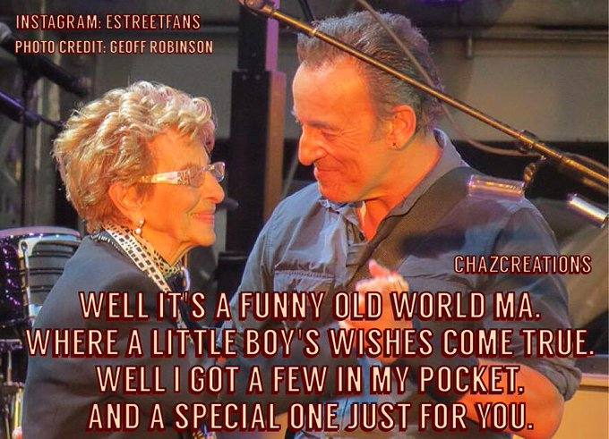 Happy Birthday To The Mother Of Our Musical Hero: Adele Springsteen!!       .