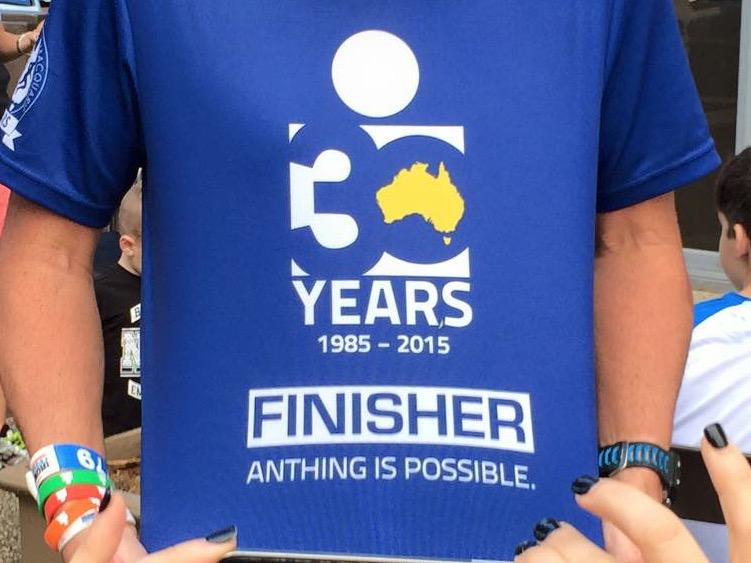 ironman- Anything is possible.... Except using spell check when you get your finisher shirts made :) http://t.co/q2gzqMvT7c
