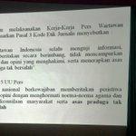 Dlm menjalankan tugasnya, jurnalis tdk lakukan trial by the press dan junjung asas praduga tak bersalah. #WPFD2015 http://t.co/ZEkkv04iYU