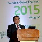 Монгол Улс #OnlineFreedomCoalition ОУын эвслийн эгнээнд багтаж,эвслийг тэргүүлж,энэ чухал арга хэмжээг з.б-уулж буй http://t.co/jIftqvoGZr