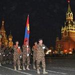 Агуу эх орны ялалтын 70 жилийн ойн парадад алхах Монгол Улсын зэвсэгт хүчний бие бүрэлдэхүүн. http://t.co/4GGm8jPOHx