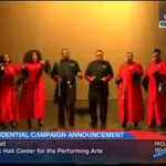 """Crowd for Ben Carson presidential announcement currently hearing a choir sing Eminem's """"Lose Yourself."""" http://t.co/BHHxbgkkme"""