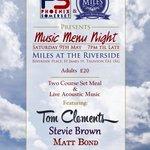 Phoenix Somerset Music menu at Miles at the Riverside this Sat May 9th! http://t.co/e1KECpeg1G http://t.co/mpm9Pi5YZL http://t.co/3B5vZFvzEQ