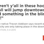 A #Baltimore native Travon Addison give us a tour of his city. http://t.co/tQW3wY324Y #Sandtown http://t.co/sFWmJkHYFr