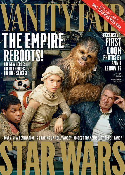 Even I am getting geeked, Damn: Annie Leibovitz photographed Star Wars for latest Vanity Fair http://t.co/IM6zZfsaCr http://t.co/iluCBdqu5r