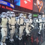 Stormtroopers descend on Times Square! #StarWarsDay #GMAMayThe4th http://t.co/4yJ1aabWE4