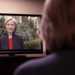 Fiorinas presidential announcement shows her watching Clintons announcement video: http://t.co/yrSZ7irnW4 http://t.co/qYmGwWvC8W