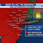 High brush fire danger today across the #NYC tri-state area. Red Flag Warnings posted for this afternoon @NBCNewYork http://t.co/yXmITgIfvG