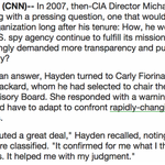 The story of how Carly Fiorina got involved with the CIA. http://t.co/6y9zbiRQuv Details at @CNNPolitics. http://t.co/r4S9DjkBG6