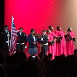 """Thats Candy Carson, Ben Carsons wife, on violin for the """"Star-Spangled Banner"""" minutes before the announcement. http://t.co/iShbNO6R9f"""