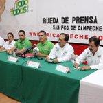 ¡Iniciamos este día acompañando a nuestro candidato @alitomorenoc en su rueda de prensa en el @PRI_Campeche! http://t.co/EwvDTfJAXM