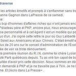 Bravo à @LLatraverse pour sa réponse cinglante au mépris de Lysanne Gagnon... http://t.co/Qr4xpAQolB