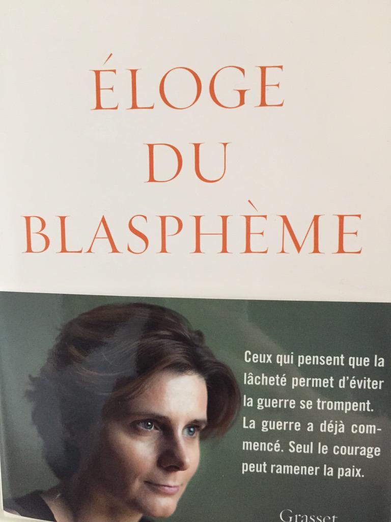 """Après 5 jours en librairies, """"Éloge du blasphème"""" est en rupture de stock. On réimprime. Merci aux premiers lecteurs. http://t.co/V56Yfr2s8X"""