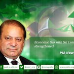 RT pmln_org: Economic ties with Sri Lanka must be strengthened: Prime Minister Nawaz Sharif http://t.co/Cy69po2nZz #PMLN #NS4Ever