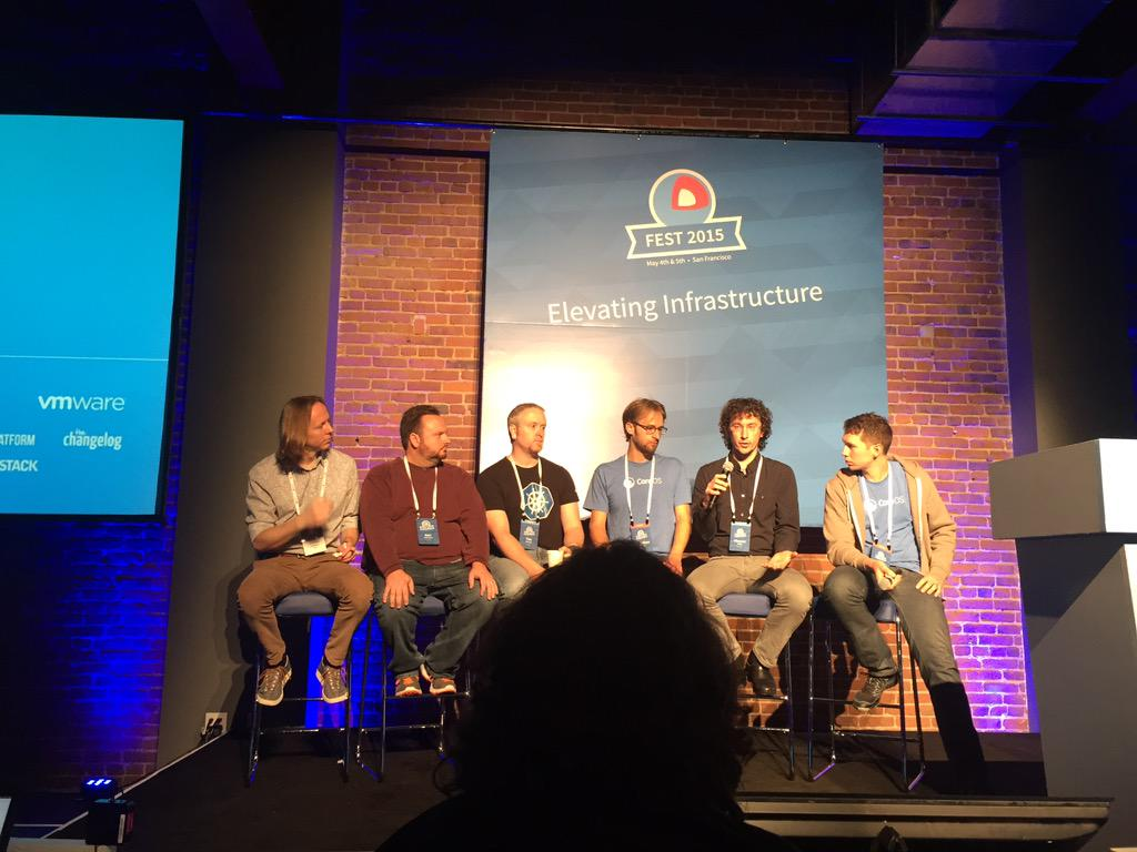 Twitter, Apcera, Google, CoreOS, and Red Hat all taking about app container spec. #coreosfest http://t.co/4oCAzfqlia