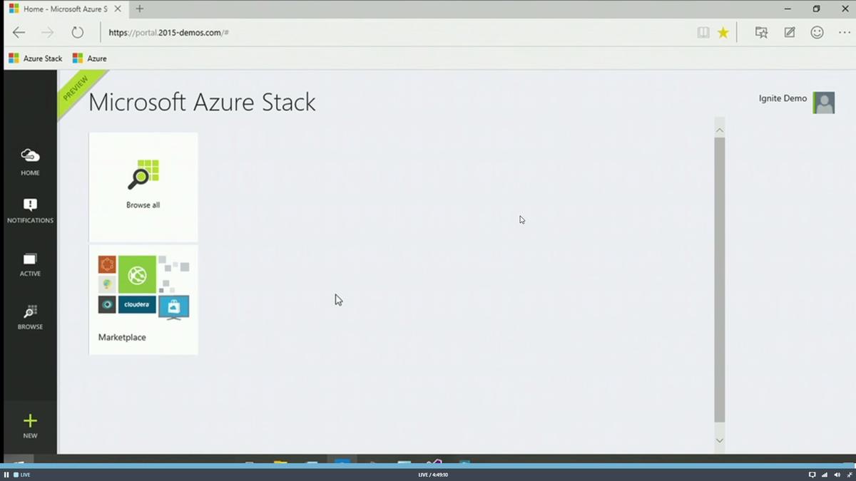 Azure running on-prem. Boom! #msignite http://t.co/ILRDc0R8Z9