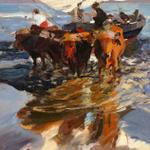 """Joaquín Sorolla. """"Vuelta de la pesca. Playa de #Valencia"""", de 1908 http://t.co/XFL6NPXiFL"""