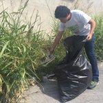 ???? Nos acompañan brigadas de limpieza para ayudar a concientizar acerca del cuidado del medio ambiente. #IVDistrito http://t.co/KGkb1SAGJj