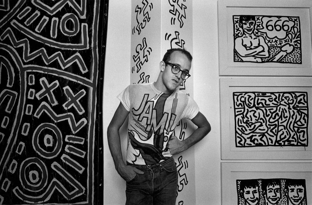 Happy birthday to the inimitable #KeithHaring! Born this day 1958. http://t.co/Y4IpES2RPa