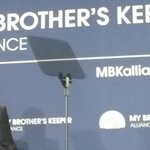 Pres Obama gives remarks to announce the creation of the @MBK_Alliance, focused on young men/boys of color, great! http://t.co/uwImlKqgGf