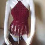 Fringe top halter, crochet halter top, halter top, BURGUNDY,… https://t.co/VF0kGaNUt0 #festivalwear #OpenBackLaceUp http://t.co/QklErOn4Ca