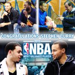 CONGRATULATIONS @StephenCurry30 on being named the 2014-15 Kia NBA Most Valuable Player!! #WarriorsProud #DubsFam http://t.co/NkZcVSJxSd