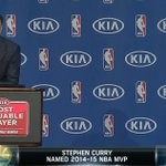 """.@StephenCurry30 to his wife, """"you are my backbone…you deserve a round of applause"""" #MVP http://t.co/ln0bqR22wC"""