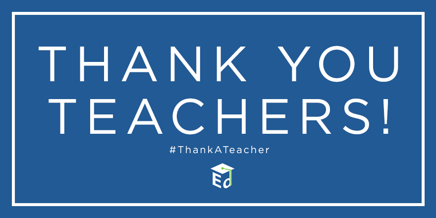 Teachers are unsung heroes of our society. Thank you teachers! #ThankATeacher #TeacherAppreciationWeek http://t.co/kYKwM2SKE9